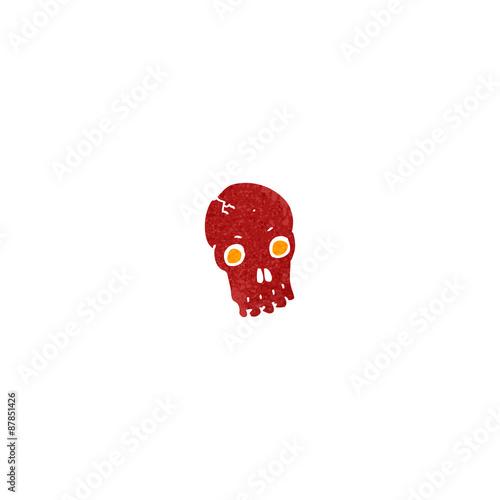Printed kitchen splashbacks Watercolor skull retro cartoon gross skull