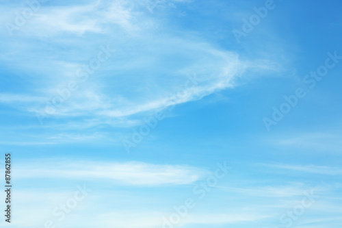 Aluminium Prints Blue Blue sky background with white clouds