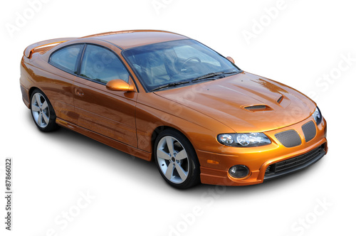 Photo Orange American Sports Coupe
