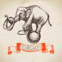Hand Drawn Sketch Circus And Amusement Vector Illustration