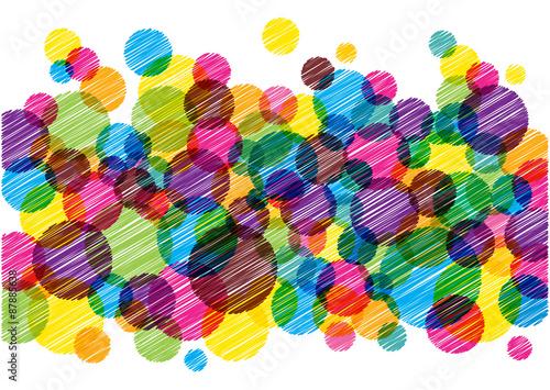 Obrazy wieloczęściowe kolorowe bąbelki