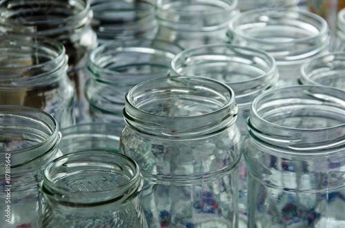 Fényképezés  empty jars of homemade preserves