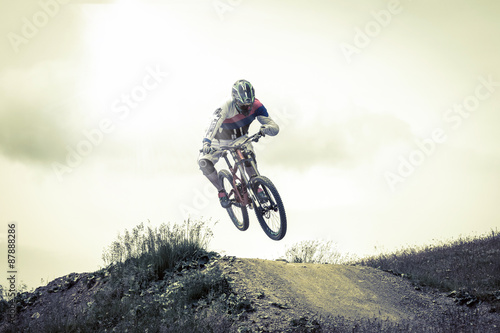 obraz dibond rider in action