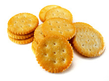 Isolated Round Crackers