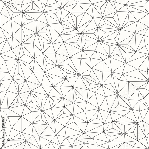 plakat Triangles background, seamless pattern, line design