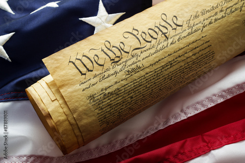 Fotografia Constitution on American flag