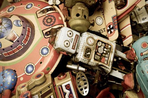 Foto op Canvas UFO robots