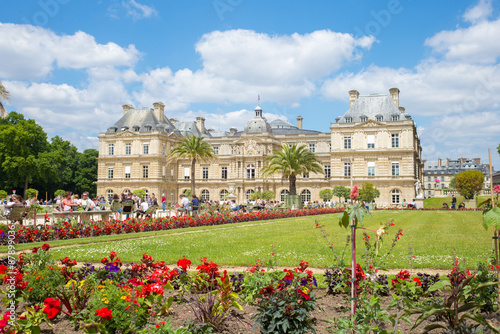 Photo Stands Paris Luxembourg palace and garden in paris, france