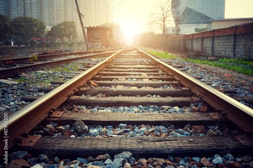 Poster Voies ferrées Railroad