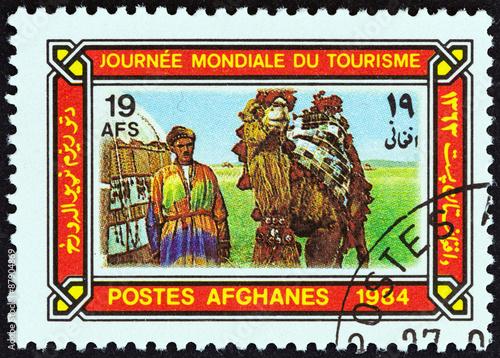 Fotografija  Camel driver and camel (Afghanistan 1984)
