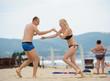 Young man and woman having fun