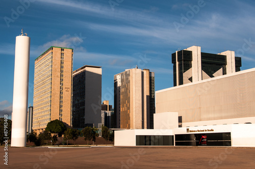 The National Library of Brasilia and Financial Buildings