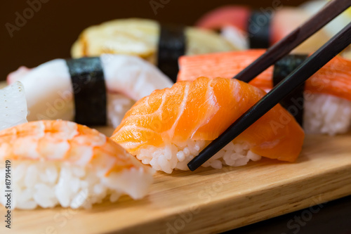 Tuinposter Sushi bar Sushi set, Japanese food