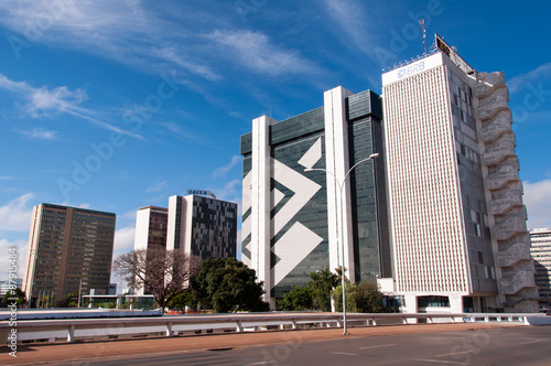 Buildings of the South Banking Sector of Brasilia City