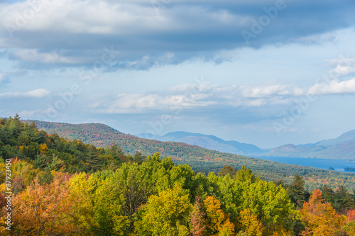Keuken foto achterwand Grijze traf. Mountainous terrain of the Adirondacks in the Lake George region.