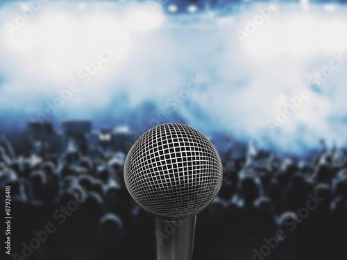 Fotografía Microfono cantante fan