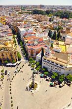 Plaza Virgen De Los Reyes, Barrio De Santa Cruz, Sevilla, España