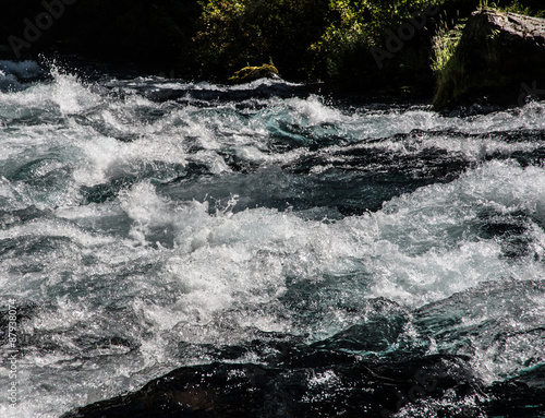 Foto op Aluminium Rivier River Rapids in a Stream in the Oregon Cascade Mountains