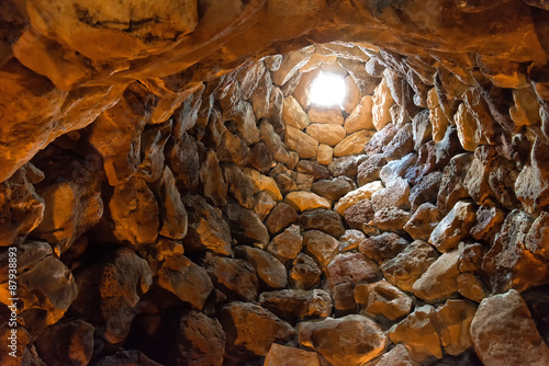 Photo  Nuraghe von Su Nuraxi in Sardinien