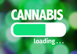 Leinwanddruck Bild - Progress Bar Loading with the text: Cannabis
