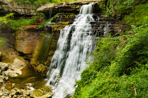 Brandywine Falls in Cuyahoga National Park Ohio Canvas-taulu
