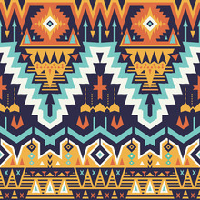 Vector Seamless Tribal Pattern...