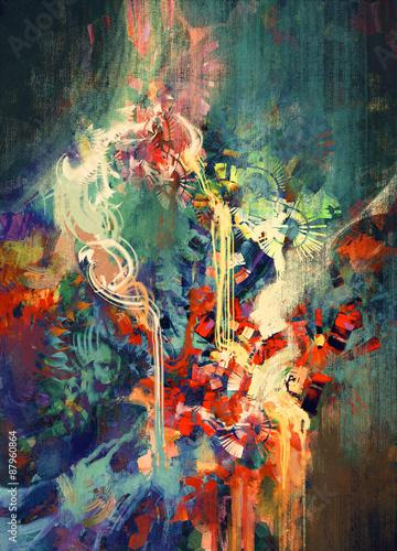 streszczenie-kolorowy-obraz-stopione-elementy-kolorujace