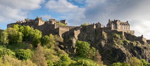 Deurstickers Kasteel Edinburgh Castle from Princes Street