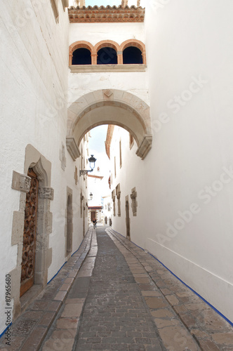 Old street in  Sitges ,Catalonia,Spain - 87965680