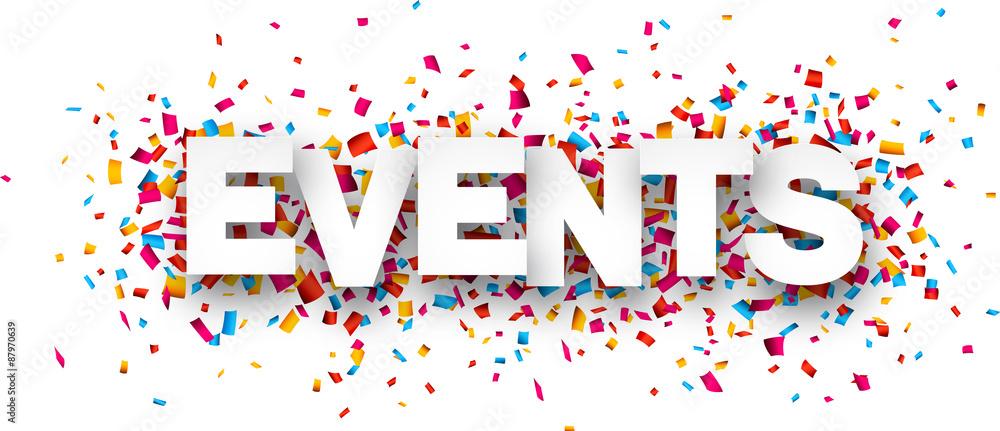 Fototapeta Paper events confetti sign.