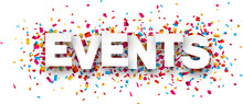 Paper Events Confetti Sign.
