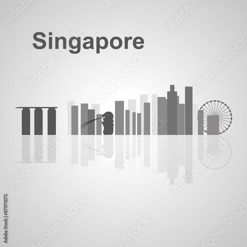 Singapore skyline for your design