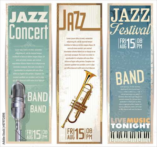 Photo  Jazz music festival, poster