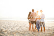 canvas print picture - The best summer is with friends