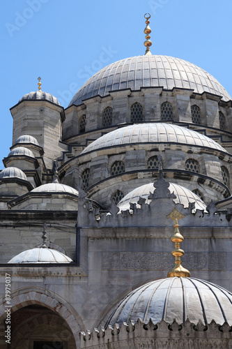 Tuinposter Midden Oosten New Mosque In Istanbul