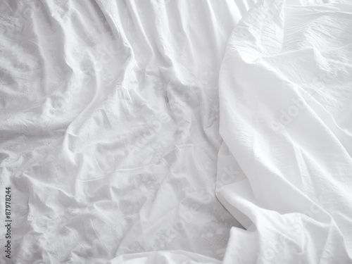 White bed sheets background Canvas-taulu