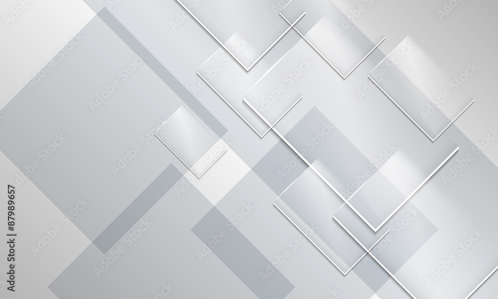 Fototapeta Abstract backround and transparent glass rectangles