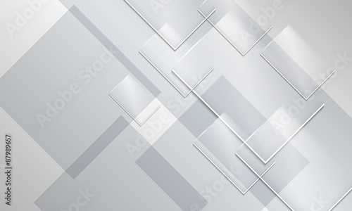 Abstract backround and transparent glass rectangles - fototapety na wymiar