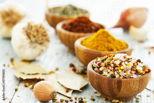 plakat Assorted spices