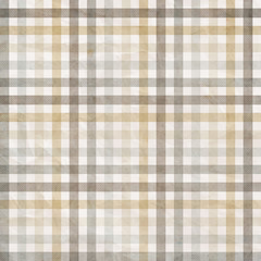 Obraz na Szkle Prowansalski textile plaid background in beige, grey, white