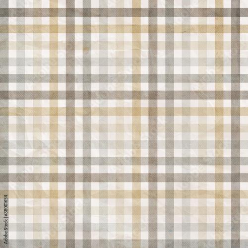 textile plaid background in beige, grey, white - 88001654