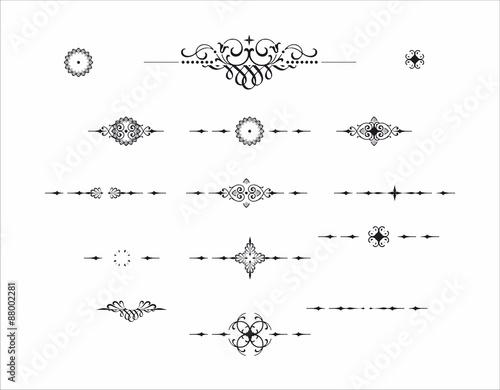 Fotografie, Obraz  Decorative element divider separator pattern