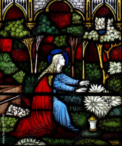 Fotografia Mary Magdalene in stained glass