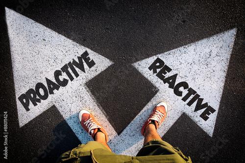 Fotografie, Obraz  Proactive or reactive