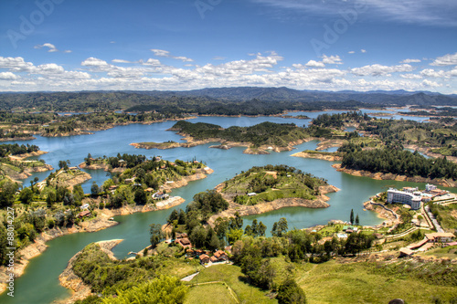 Fotografía  view over the lakes of Guatape near Medellin, Colombia