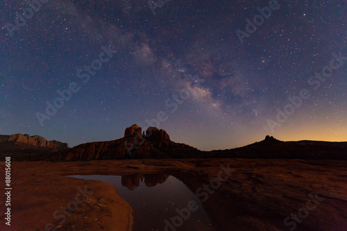 Staande foto Arizona Milky Way over Cathedral Rock