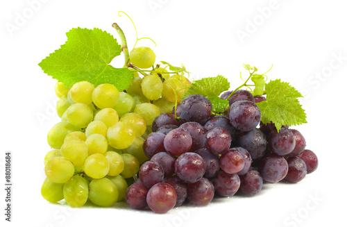 Fotografia, Obraz  White and red grapes.