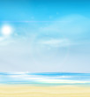 Summer Background, Vector Illustration.