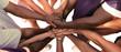 canvas print picture - Eine Gruppe von vielfältigen Menschen bildet eine Einheit als Team