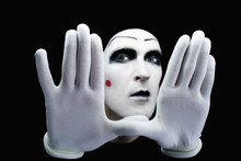 Mime Isolated On Black Background
